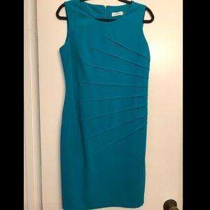 Calvin Klein Turquoise Bodycon Career Dress sz 10P